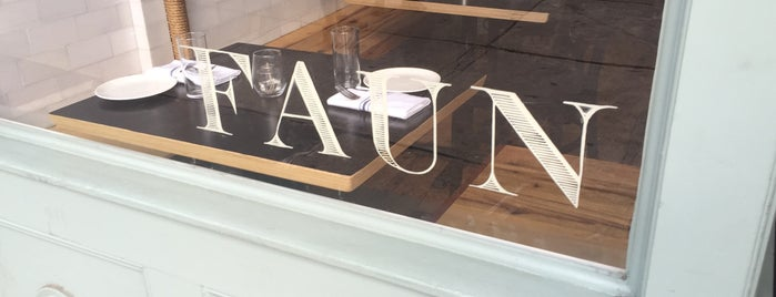 Faun is one of NYC // BKLYN Places to Eat.