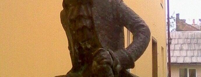 Пам'ятник Моцарту / Mozart statue is one of Міні-скульптури. УЖГОРОД!.
