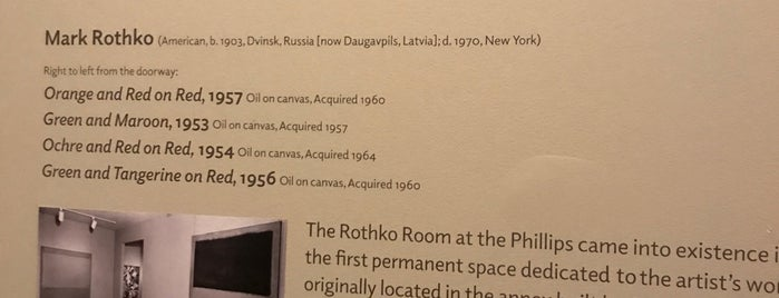 Rothko Room at Phillips is one of Favorite DC places.