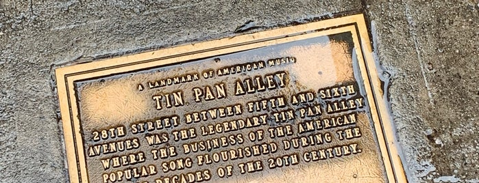 Tin Pan Alley is one of NYC.