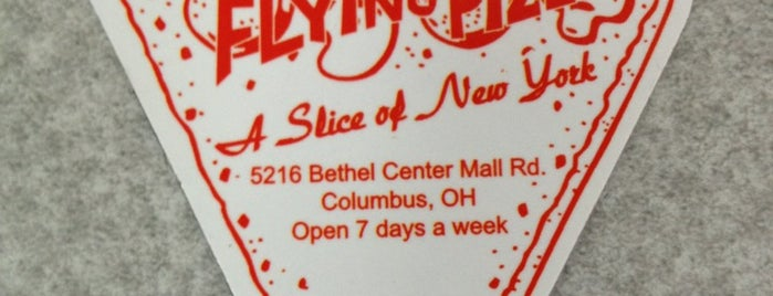 The Flying Pizza is one of Columbus.