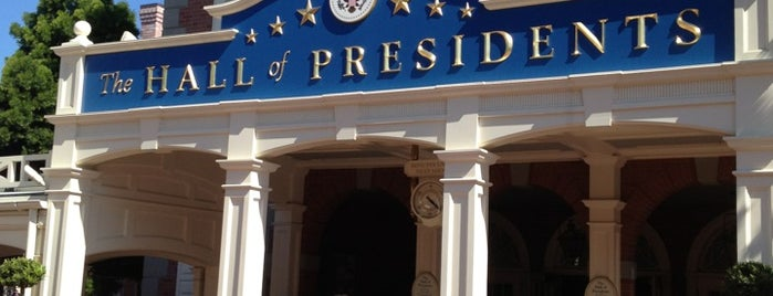 The Hall of Presidents is one of Favorite Places to visit!.
