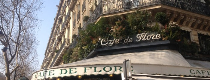 Café de Flore is one of Paris West Arrondissements.