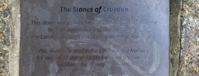 Norbury Park is one of The Stones of Croydon.