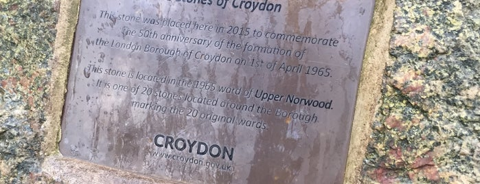 Upper Norwood Recreation Ground is one of The Stones of Croydon.