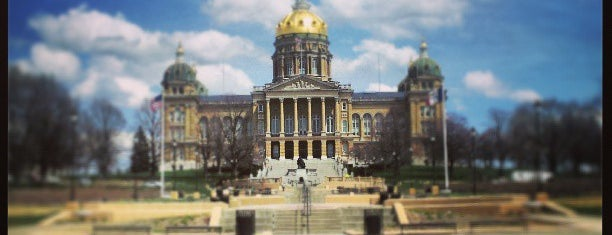 Iowa State Capitol is one of Des Moines.