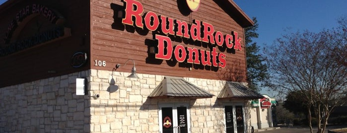 Round Rock Donuts is one of Man vs Food Spots Texas.