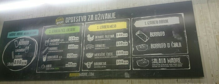 Burrito Madre is one of belgrad.
