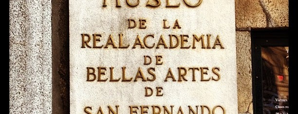 Real Academia de Bellas Artes de San Fernando is one of Madrid.