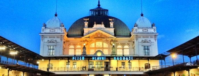 Pilsen Hauptbahnhof is one of Orte, die Veronika gefallen.