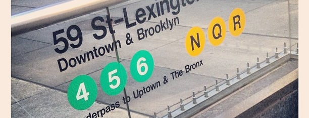 MTA Subway - Lexington Ave/59th St (4/5/6/N/R/W) is one of Jason'un Beğendiği Mekanlar.