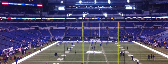 Lucas Oil Stadium is one of sports arenas and stadiums.