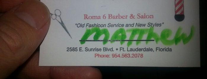 Roma 6 Barber Shop is one of Locais curtidos por Matthew.