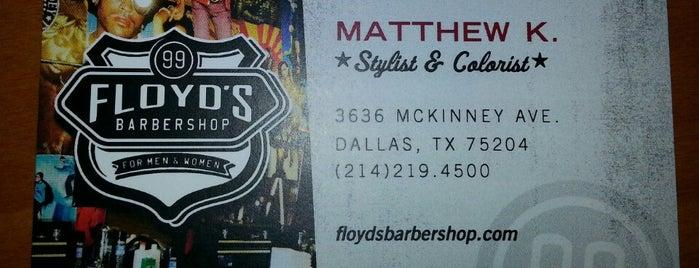 Floyd's 99 Barbershop is one of Locais curtidos por Matthew.