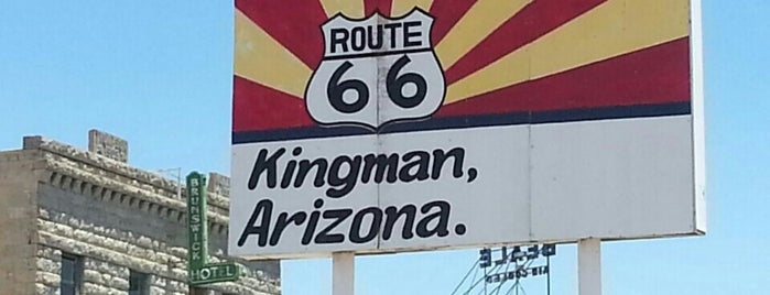 Kingman, AZ is one of Historic Route 66.
