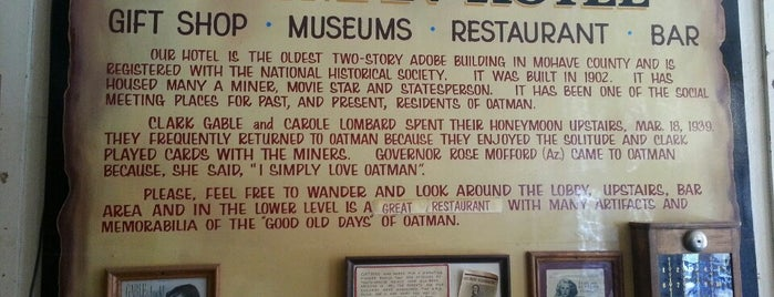 Oatman Hotel is one of Historic Route 66.