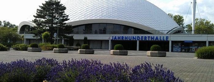 Jahrhunderthalle is one of Lieux qui ont plu à Vangelis.