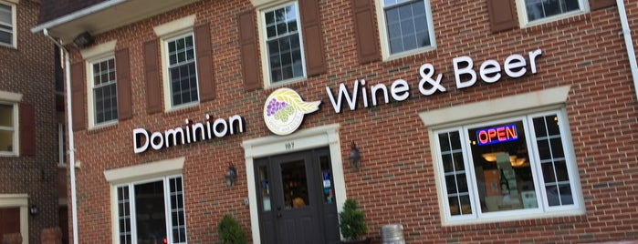 Dominion Wine & Beer is one of DMV.