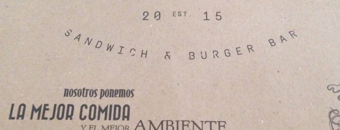 La Maestranza Sandwich & Burger Bar is one of Orte, die erika gefallen.