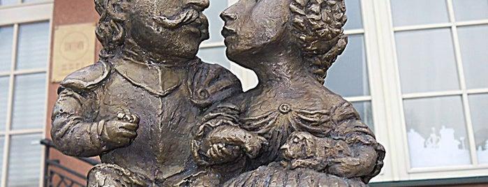 Скульптура графу Міклошу Берчені і графині Крістіні Чакі is one of Міні-скульптури. УЖГОРОД!.