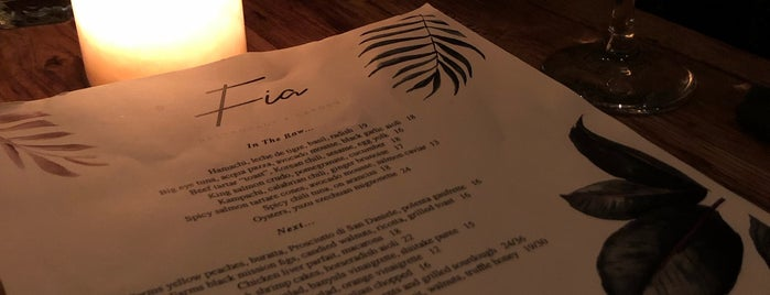 Fia is one of The Best Restaurants in Los Angeles.