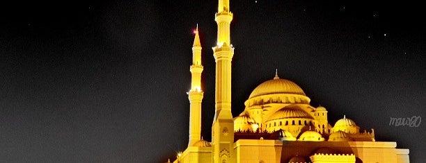 Al Noor Mosque (Masjid) - Buhaira Corniche is one of الشّارقة..