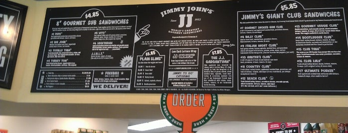 Jimmy John's is one of Lieux qui ont plu à Paolo.