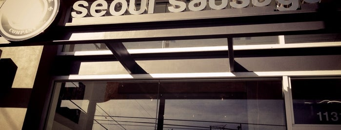 Seoul Sausage Company is one of Orte, die Rich gefallen.