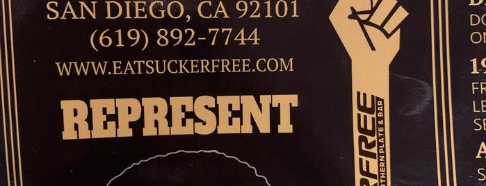 Suckerfree Southern Plate & Bar is one of San Diego Destination.