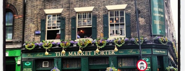 The Market Porter is one of London's Best for Beer.