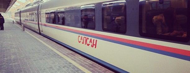 Поезд № 762 «Сапсан» Москва — Санкт-Петербург is one of Svetlana : понравившиеся места.