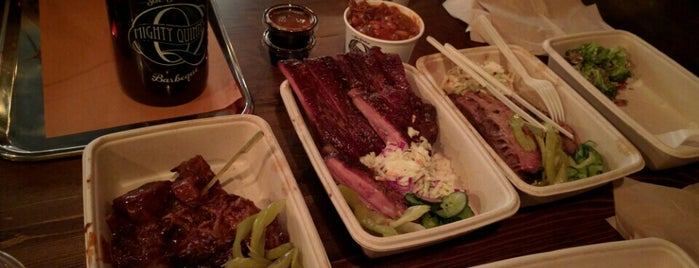 Mighty Quinn's BBQ is one of Rebeccaさんのお気に入りスポット.