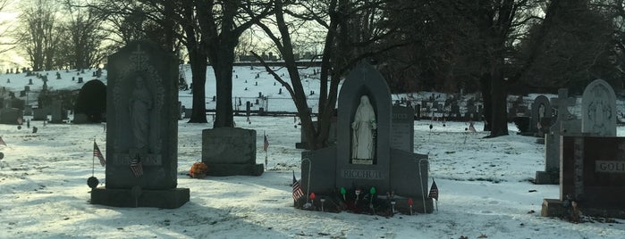St. John's. Cemetery is one of out of town.