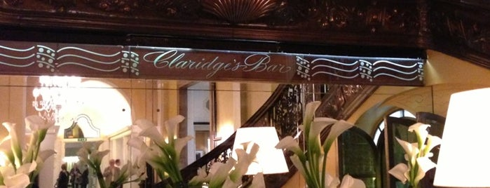 Claridges's Bar is one of Afternoon Tea in London.