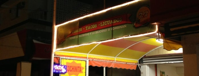 7x7 Jugos, Tacos y Licuados is one of Taniaさんの保存済みスポット.