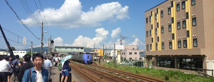 Yakumo Station is one of JR 홋카이도역 (JR 北海道地方の駅).