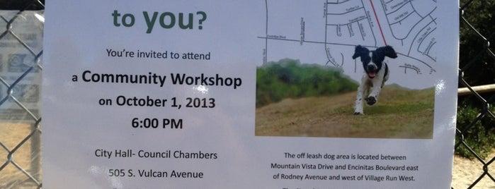 Encinitas Power Lines Dog Park is one of Lugares favoritos de @49ergirl.