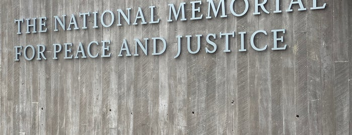 The National Memorial For Peace And Justice is one of Atlanta/Alabama.