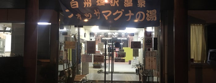 白州塩沢温泉 フォッサ・マグナの湯 is one of [todo] kobuchizawa | 小淵沢.