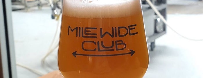 Mile Wide Beer Co. is one of Breweries and Brewpubs.