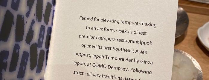 Ippoh Tempura Bar by Ginza Ippoh is one of Tempat yang Disukai Andrew.