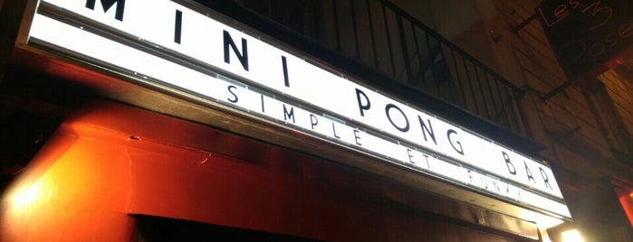 Mini Pong is one of Montmartre.