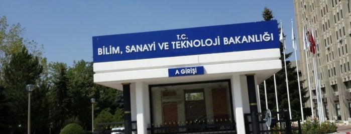 Bilim Sanayi ve Teknoloji Bakanlığı is one of Orte, die Erkan gefallen.