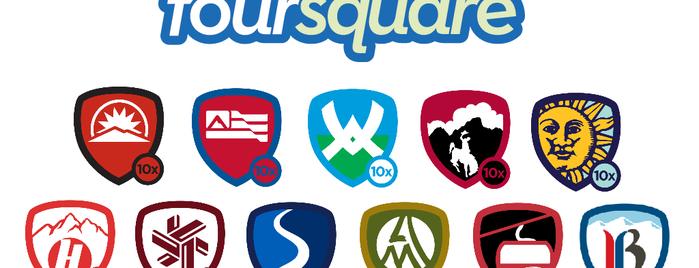 Ski Resort Badges — With Levels