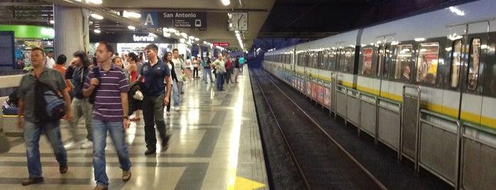 METRO - Estación San Antonio is one of Lugares favoritos de Jorge.