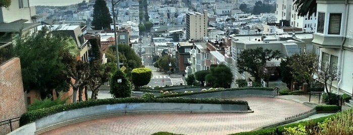 Lombard Street is one of San Francisco.