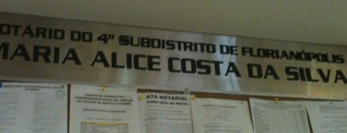Cartório Maria Alice Costa da Silva is one of UFSC e etc..
