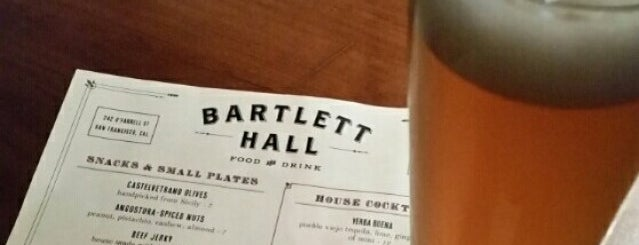 Bartlett Hall is one of Beer 47 Craft Beer Guide to SF.