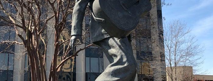 Statue of Elvis is one of Memphis.