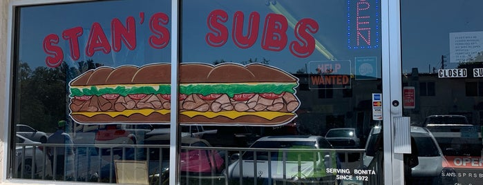 Stan's Subs is one of Locais salvos de Tim.
